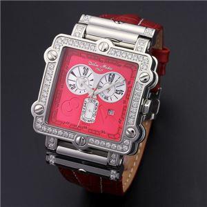 Dolce Medio(ドルチェ・メディオ) DM8018QZRDRD レッド×シルバー&レッド 腕時計 - 拡大画像