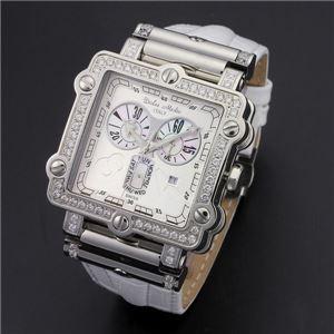 Dolce Medio(ドルチェ・メディオ) DM8018QZWHWH ホワイト×シルバー&ホワイト 腕時計 - 拡大画像