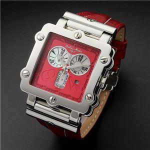 Dolce Medio(ドルチェ・メディオ) DM8018RDRD レッド×シルバー&レッド 腕時計 - 拡大画像