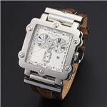 Dolce Medio(ドルチェ・メディオ) DM8018WHBR ホワイト×シルバー&ブラウン 腕時計