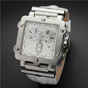 Dolce Medio(ドルチェ・メディオ) DM8018WHWH ホワイト×シルバー&ホワイト 腕時計 - 拡大画像