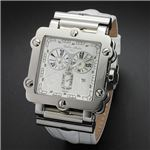 Dolce Medio(ドルチェ・メディオ) DM8018WHWH ホワイト×シルバー&ホワイト 腕時計