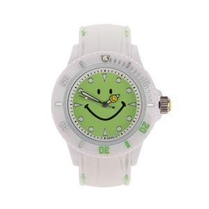 SMILEY(スマイリー) シリコン&ステッチベルト ウォッチ ライトグリーン WC-HBSIL-WGR h01