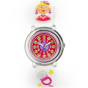 Baby Watch Paris 【ベビーウォッチ】 子供用腕時計 ベビーウォッチ ジップザップ メイクアップ Z038 ホワイト - 拡大画像