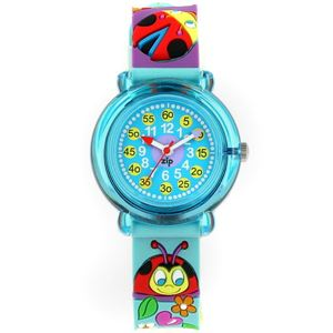 Baby Watch Paris 【ベビーウォッチ】 子供用腕時計 ベビーウォッチ ジップザップ てんとう虫 Z040 ブルー - 拡大画像