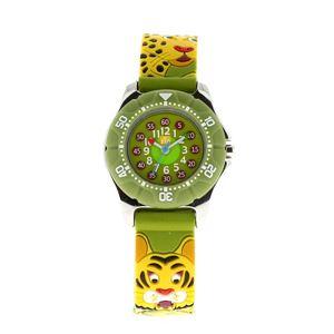 Baby Watch Paris 【ベビーウォッチ】 子供用腕時計 ベビーウォッチ ジップ タイガー Z043 グリーン - 拡大画像