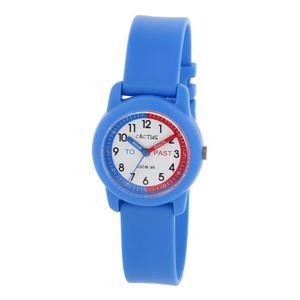 CACTUS(カクタス) キッズ腕時計 ティーチングウォッチ ブルー CAC-69-M03 ホワイト×ブルー