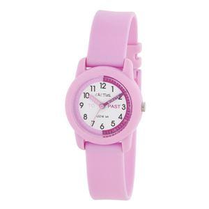 CACTUS(カクタス)キッズ腕時計ティーチングウォッチピンクCAC-69-M05ホワイト×ピンク