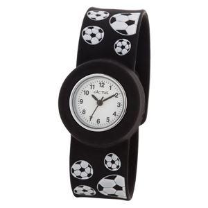 CACTUS(カクタス) キッズ腕時計 パッチン時計 サッカー CAC-70-M01 ホワイト×ブラック - 拡大画像