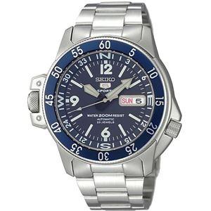 腕時計 SEIKO 5 SPORTS(セイコー ファイブ スポーツ) オートマチック デイデイト 逆輸入 海外モデル 日本製 ネイビー×シルバー SKZ209JC - 拡大画像