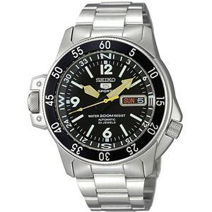 腕時計 SEIKO 5 SPORTS(セイコー ファイブ スポーツ) オートマチック デイデイト 逆輸入 海外モデル 日本製 ブラック×シルバー SKZ211JC - 拡大画像