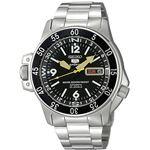 腕時計 SEIKO 5 SPORTS(セイコー ファイブ スポーツ) オートマチック デイデイト 逆輸入 海外モデル 日本製 ブラック×シルバー SKZ211JC