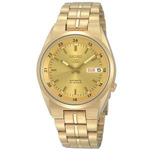 腕時計 SEIKO 5 (セイコー ファイブ)オートマチック デイデイト 逆輸入 海外モデル 日本製 ゴールド×ゴールド SNK574JC - 拡大画像