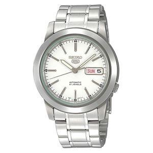 腕時計 SEIKO 5 (セイコー ファイブ)オートマチック デイデイト 逆輸入 海外モデル 日本製 ホワイト×シルバー SNKE49JC - 拡大画像