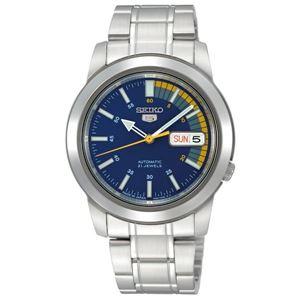 腕時計 SEIKO 5 (セイコー ファイブ)オートマチック デイデイト 逆輸入 海外モデル 日本製 ブルー×シルバー SNKK27JC - 拡大画像