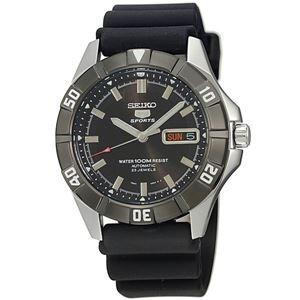 腕時計 SEIKO 5 SPORTS(セイコー ファイブ スポーツ) オートマチック デイデイト 逆輸入 海外モデル 日本製 ブラック×ブラック SNZD17JC - 拡大画像