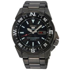 腕時計 SEIKO 5 SPORTS(セイコー ファイブ スポーツ) オートマチック デイデイト 逆輸入 海外モデル 日本製 ブラック×ブラック SNZE83JC - 拡大画像