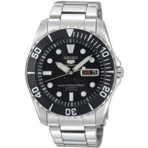 腕時計 SEIKO 5 SPORTS(セイコー ファイブ スポーツ) オートマチック デイデイト 逆輸入 海外モデル 日本製 ブラック×シルバー SNZF17JC - 拡大画像