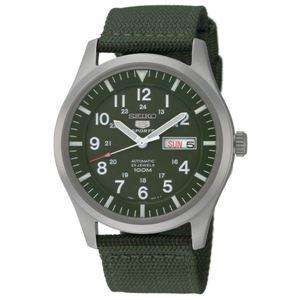 腕時計 SEIKO 5 SPORTS(セイコー ファイブ スポーツ) オートマチック デイデイト 逆輸入 海外モデル 日本製 カーキ×グリーン SNZG09JC - 拡大画像
