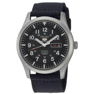 腕時計 SEIKO 5 SPORTS(セイコー ファイブ スポーツ) オートマチック デイデイト 逆輸入 海外モデル 日本製 ブラック×ブラック SNZG15JC - 拡大画像