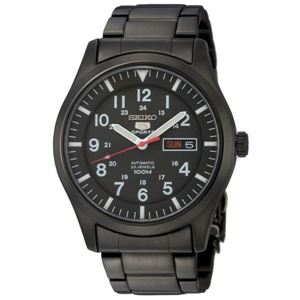 腕時計 SEIKO 5 SPORTS(セイコー ファイブ スポーツ) オートマチック デイデイト 逆輸入 海外モデル 日本製 ブラック×ブラック SNZG17JC - 拡大画像