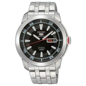 腕時計 SEIKO 5 SPORTS(セイコー ファイブ スポーツ) オートマチック デイデイト 逆輸入 海外モデル 日本製 ブラック×シルバー SNZH63JC - 拡大画像
