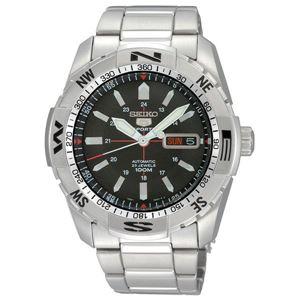 腕時計 SEIKO 5 SPORTS(セイコー ファイブ スポーツ) オートマチック デイデイト 逆輸入 海外モデル 日本製 ブラック×シルバー SNZJ05JC - 拡大画像