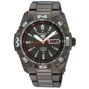 腕時計 SEIKO 5 SPORTS(セイコー ファイブ スポーツ) オートマチック デイデイト 逆輸入 海外モデル 日本製 ブラック×ブラック SNZJ11JC - 拡大画像