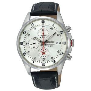 腕時計 SEIKO(セイコー) クロノグラフ デイト 逆輸入 海外モデル シルバー×ブラック SNDC87PD - 拡大画像