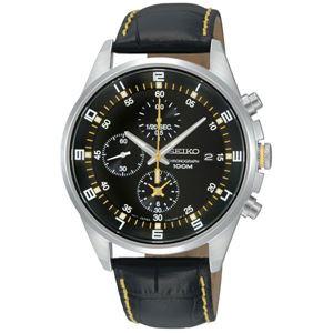 腕時計 SEIKO(セイコー) クロノグラフ デイト 逆輸入 海外モデル ブラック×ブラック SNDC89PD - 拡大画像