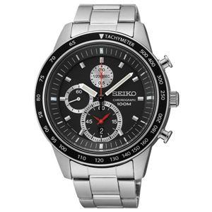 腕時計 SEIKO(セイコー) クロノグラフ デイト 逆輸入 海外モデル ブラック×シルバー SNDD85PC - 拡大画像