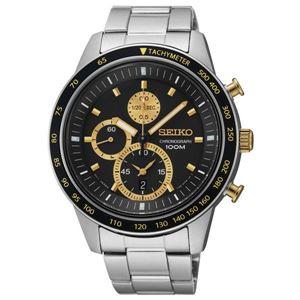 腕時計 SEIKO(セイコー) クロノグラフ デイト 逆輸入 海外モデル ブラック×シルバー SNDD87PC - 拡大画像