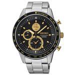 腕時計 SEIKO(セイコー) クロノグラフ デイト 逆輸入 海外モデル ブラック×シルバー SNDD87PC