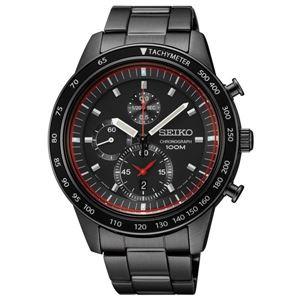 腕時計 SEIKO(セイコー) クロノグラフ デイト 逆輸入 海外モデル ブラック×ブラック SNDD89PC - 拡大画像