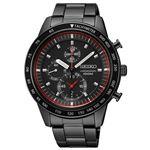 腕時計 SEIKO(セイコー) クロノグラフ デイト 逆輸入 海外モデル ブラック×ブラック SNDD89PC