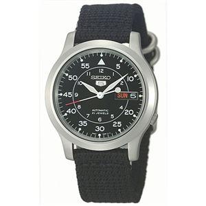 腕時計 SEIKO 5 (セイコー ファイブ)オートマチック デイデイト 逆輸入 海外モデル 日本製 ブラック×ブラック SNK809KD