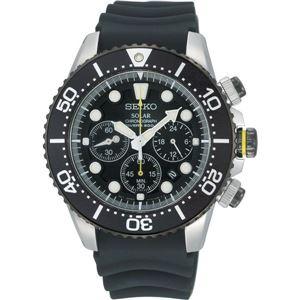 腕時計 SEIKO(セイコー) ソーラー アラームクロノダイバー 逆輸入 海外モデル ブラック×ブラック SSC021PC - 拡大画像