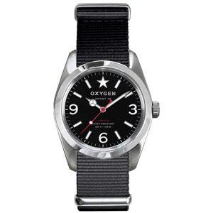 OXYGEN(オキシゲン) 腕時計 Sport 38(スポーツ38) Washington(ワシントン) ブラック - 拡大画像