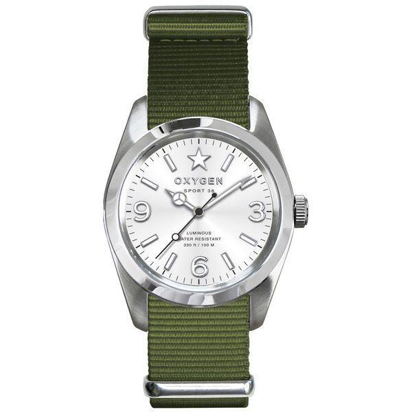 OXYGEN(オキシゲン) 腕時計 Sport 38(スポーツ38) Paris(パリ) シルバーf00
