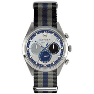 OXYGEN(オキシゲン) 腕時計 Sport DT 40(スポーツ ディーティー 40) Pacific(パシフィック) マルチファンクション シルバー - 拡大画像