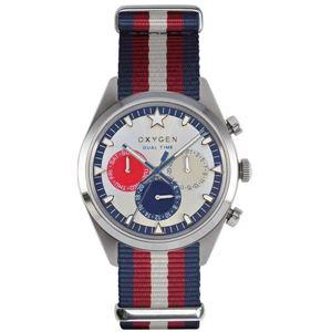 OXYGEN(オキシゲン) 腕時計 Sport DT 40(スポーツ ディーティー 40) Long Island(ロング アイランド) マルチファンクション シルバー - 拡大画像