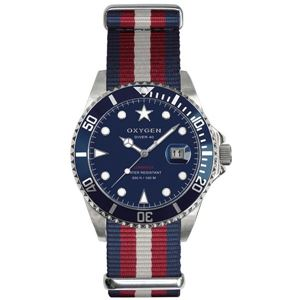 OXYGEN(オキシゲン) 腕時計 Diver 40(ダイバー 40) Atlantic(アトランティック) ブルー