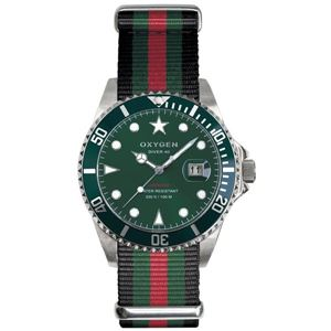 OXYGEN(オキシゲン) 腕時計 Diver 40(ダイバー 40) Campo(カンポ) グリーン - 拡大画像
