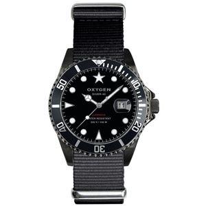 OXYGEN(オキシゲン) 腕時計 Diver 40(ダイバー 40) Moby Dick Black(モビー ディック ブラック) ブラック h01