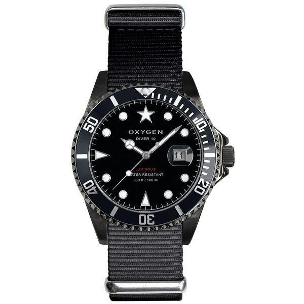 OXYGEN(オキシゲン) 腕時計 Diver 40(ダイバー 40) Moby Dick Black(モビー ディック ブラック) ブラックf00