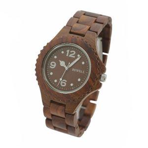 BEWEL 木製時計 NOB-2531-BR - 拡大画像