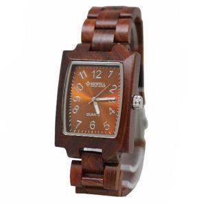 BEWEL 木製時計 NOB-2532-BR - 拡大画像
