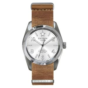 OXYGEN(オキシゲン) 腕時計 Sport 38(スポーツ38) Paris(パリ) NATO Leather シルバー