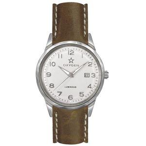 OXYGEN(オキシゲン) 腕時計 SPORT VINTAGE 40(スポーツ ヴィンテージ 40) Fjord(フィヨルド) Classic Leather シルバー - 拡大画像