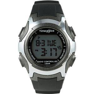 TimePiece(タイムピース)腕時計電波時計ソーラー(デュアルパワー)デジタルガンメタTPW-001GM